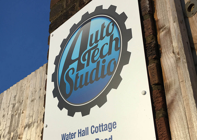 Auto Tech Studio signage
