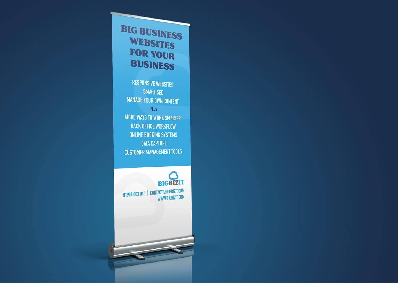 BigBizIT rebrand roller banner