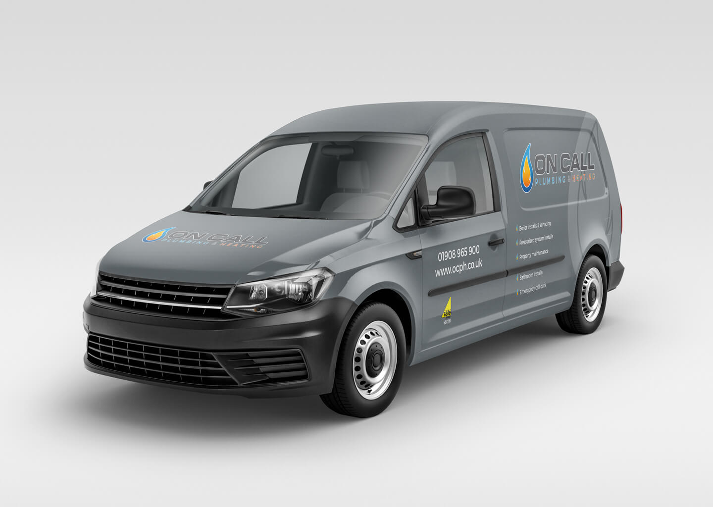 On Call rebrand vehicle graphic mockup