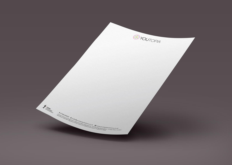 Youtopia branding letterhead