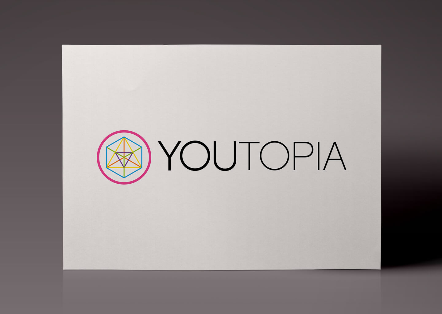 Full colour logo design for Youtopia branding