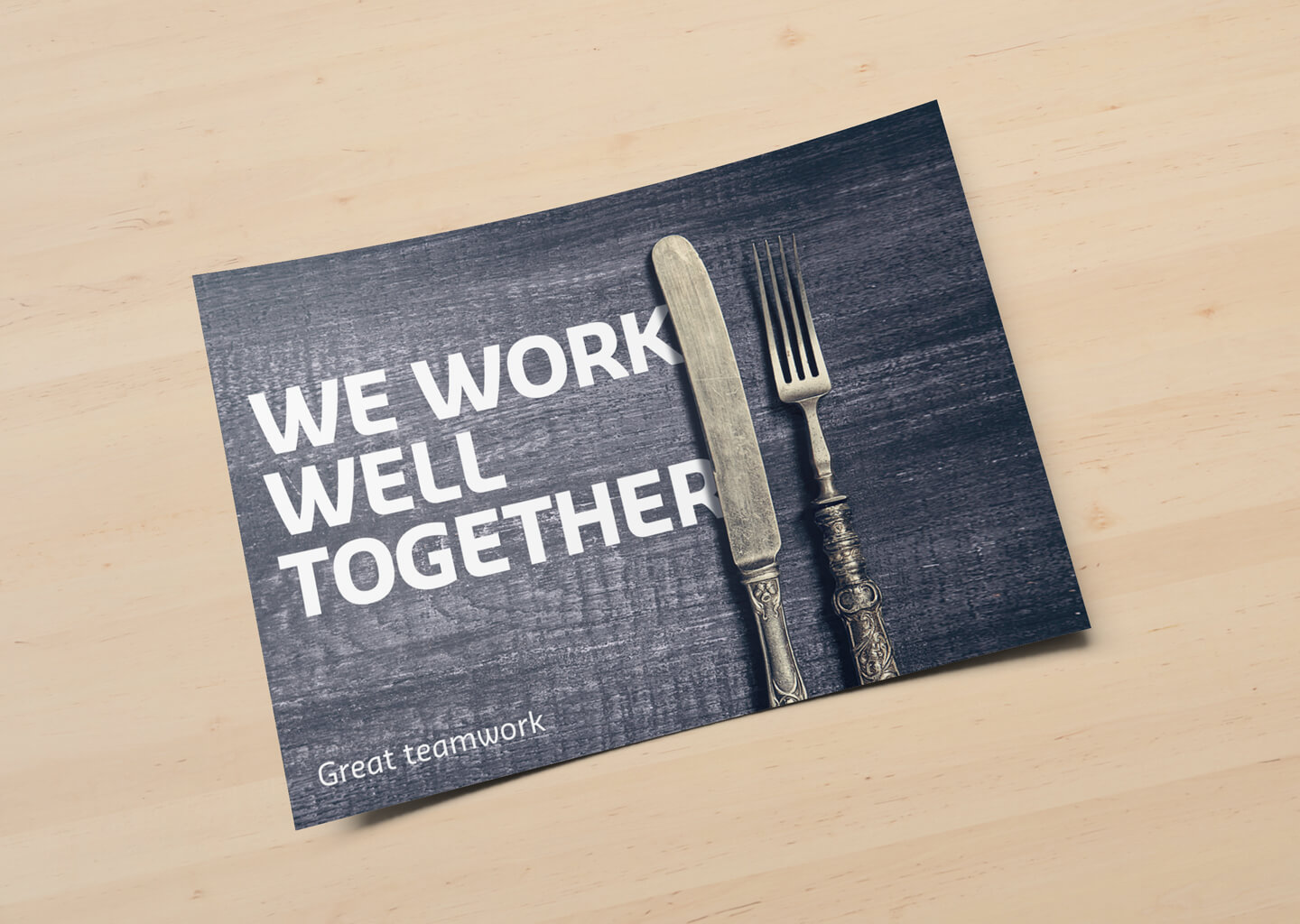 Staff recognition cards