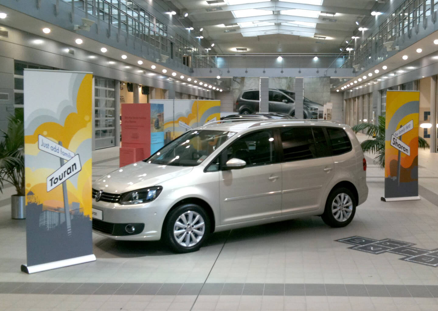 Creative event design for a Volkswagen launch